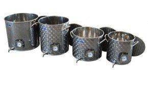 Pentole in acciaio per fare birra all grain