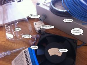 come costruire un agitatore magnetico, occorrente e materiale
