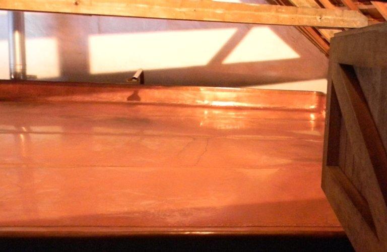 catino di raffreddamento in rame birrificio cantillon