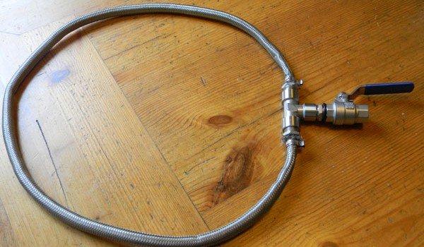 Filtro bazooka per fare la birra in casa
