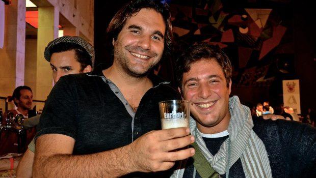 Leonardo di Vincenzo a Eurhop con Alessio di Birra degli Amici