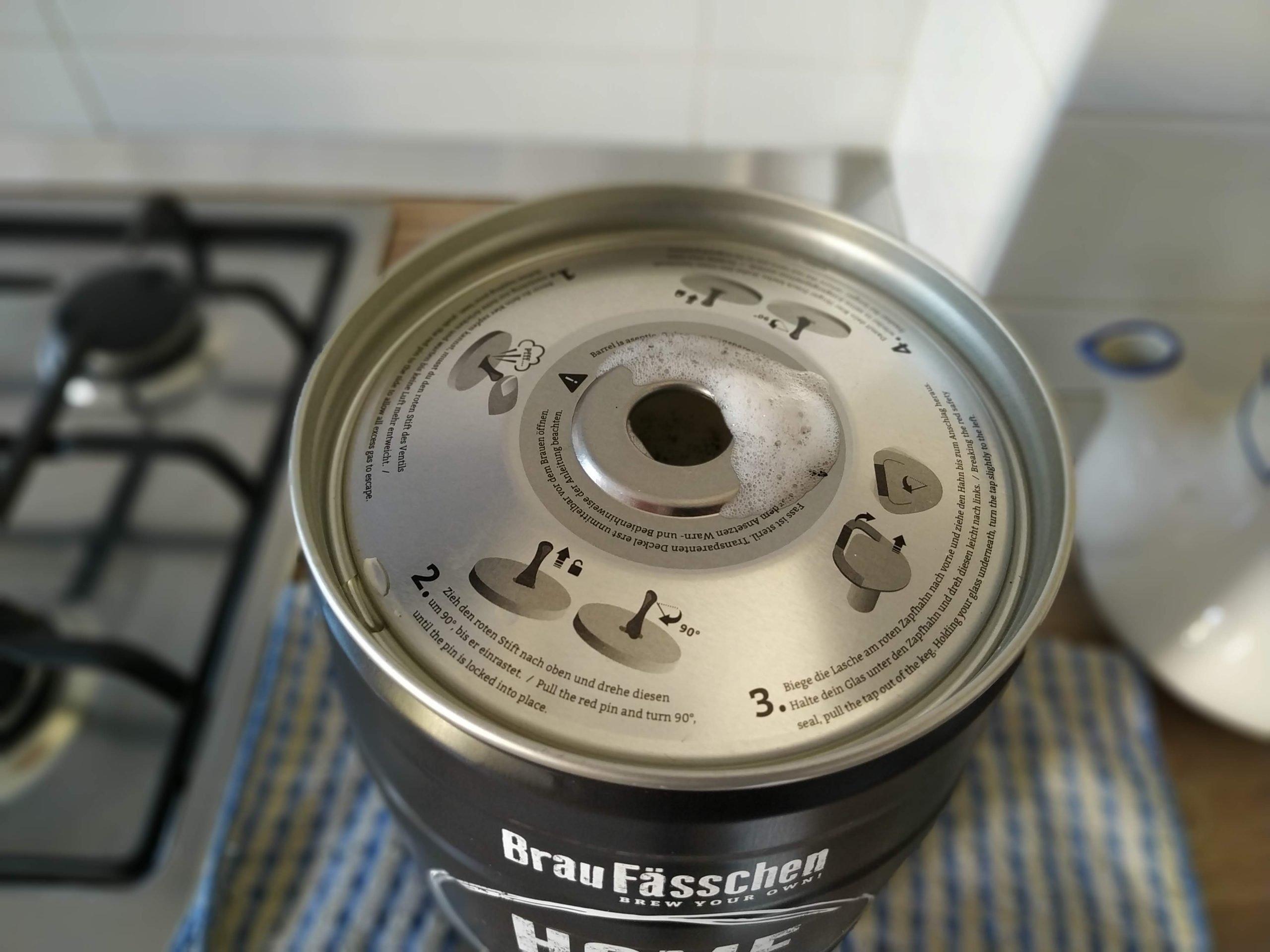 schiuma uscita dal fusto brewbarrel